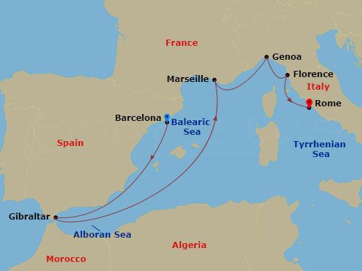 7 Night Mediterranean BCN to ROM Crown Princess