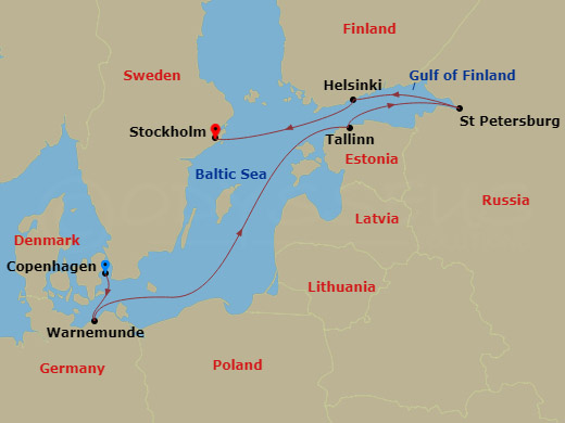 RSSC Luxury Northern Capitals Cruise